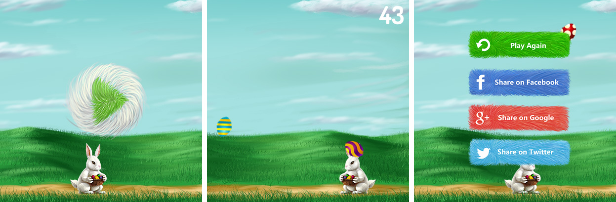 Bunny Rabbit Easter Eggs Collector