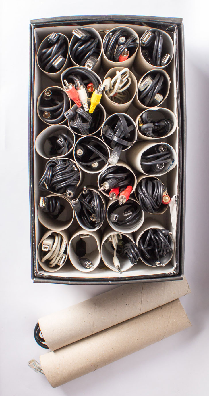 Paper-Rolls-Cable-Organizer
